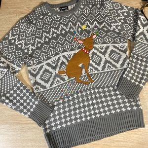Carbon Fair Isle Ugly Christmas Sweater - Unisex